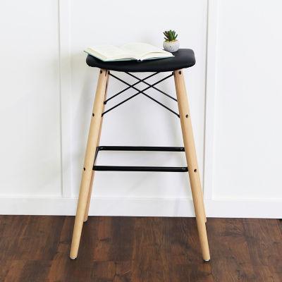 Retro Modern Faux Leather Kitchen Barstool