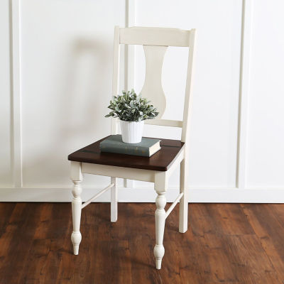 2-pc. Solid Wood Turned Leg Dining Chairs