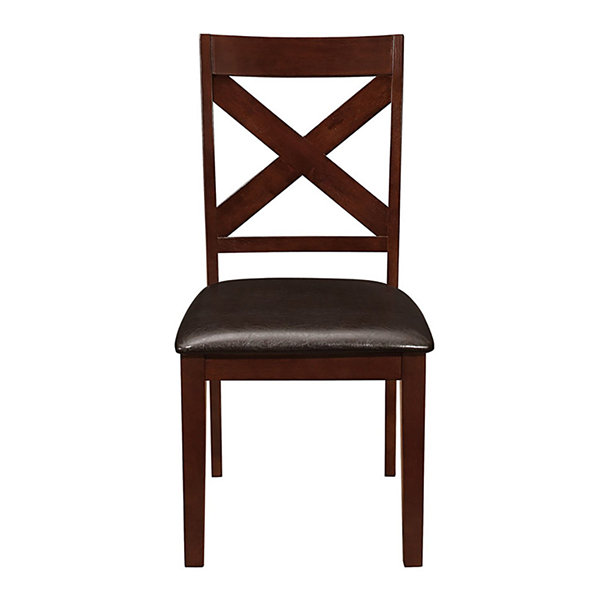 2-pc. Solid Wood X-Back Padded Dining Chairs