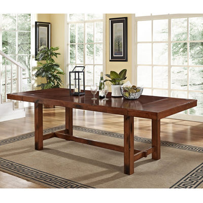 Distressed Dark Oak WoodKitchen Dining Table