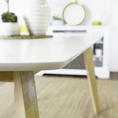 "60"" Retro Modern Wood Kitchen Dining Table"
