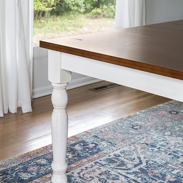 "60"" Solid Wood Turned Leg Dining Table"