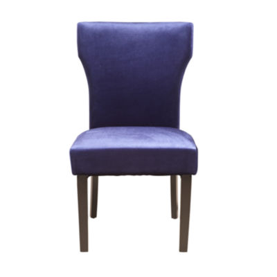 Purple Greek Key Back Side Chair