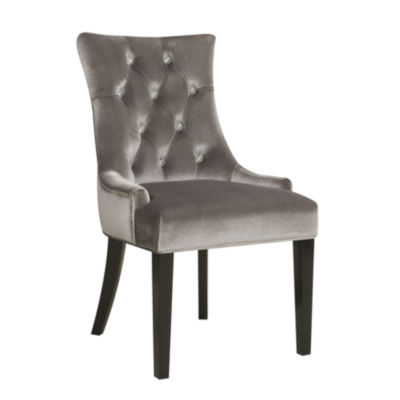 Chrome Velvet Side Chair