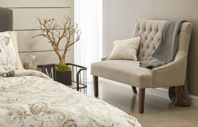 Button Tufted Upholstered Settee