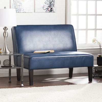 Modern Life Furniture Faux Leather Settee Bench