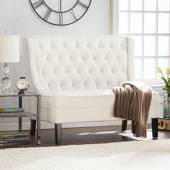 Modern Life Furniture High-Back Tufted Settee Bench