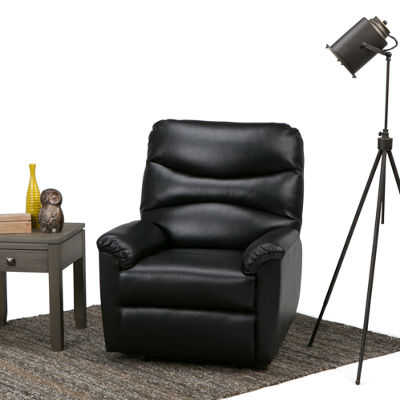 Clancy Gel Leather Recliner in Black