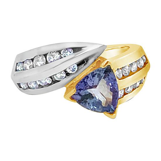 Le Vian Grand Sample Sale™ Ring featuring Blueberry Tanzanite® 5/8 CT. T.W. Vanilla Diamonds® set in 14K Two Tone Gold