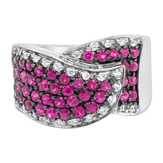 LIMITED QUANTITIES! Le Vian Grand Sample Sale™ Ring featuring Bubble Gum Pink Sapphire™ 1/5 CT. T.W. Vanilla Diamonds® set in 14K Vanilla Gold®