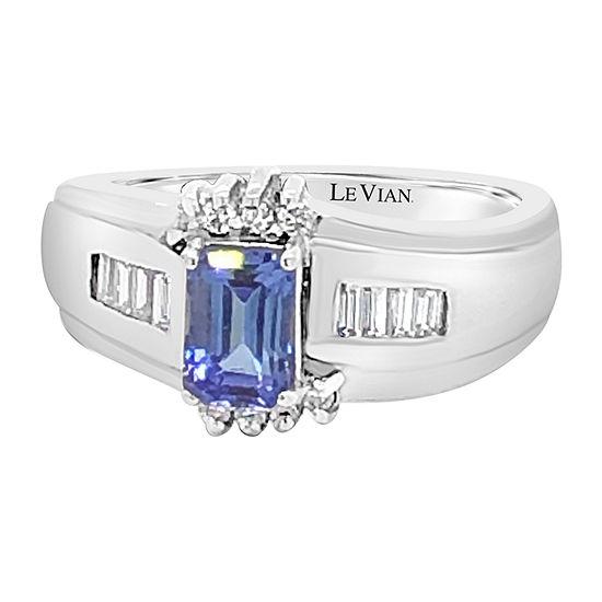 Le Vian Grand Sample Sale™ Ring featuring Blueberry Tanzanite® 1/4 CT. T.W. Vanilla Diamonds® set in 14K Vanilla Gold®