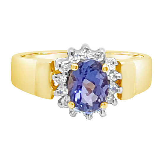 Le Vian Grand Sample Sale™ Ring featuring Blueberry Tanzanite® 1/10 CT. T.W. Nude Diamonds™ set in 14K Honey Gold™