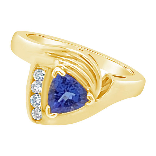 Le Vian Grand Sample Sale™ Ring featuring Blueberry Tanzanite® 1/8 CT. T.W. Vanilla Diamonds® set in 14K Honey Gold™