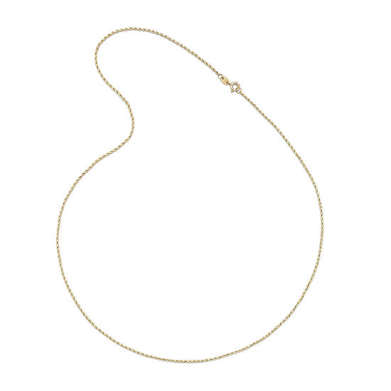 "14K Yellow Gold 18-24"" 1.35mm Hollow Rope Chain Necklace"