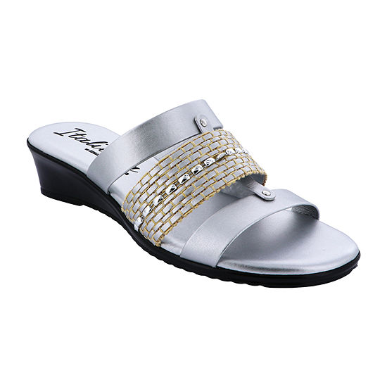 Italiana By Italian Shoemakers Womens Dorthie Wedge Sandals