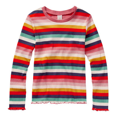 Arizona Girls Round Neck Long Sleeve Graphic T-Shirt - Preschool