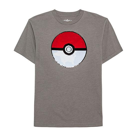 Reverse Sequin Tees Boys Round Neck Short Sleeve Pokemon Graphic T-Shirt - Preschool / Big Kid