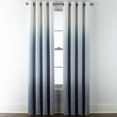 JCPenney Home Sullivan Ombre Blackout Grommet-Top Single Curtain Panel