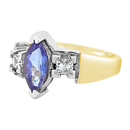 Le Vian Grand Sample Sale™ Ring featuring Blueberry Tanzanite® 1/3 CT. T.W. Vanilla Diamonds® set in 18K Two Tone Gold