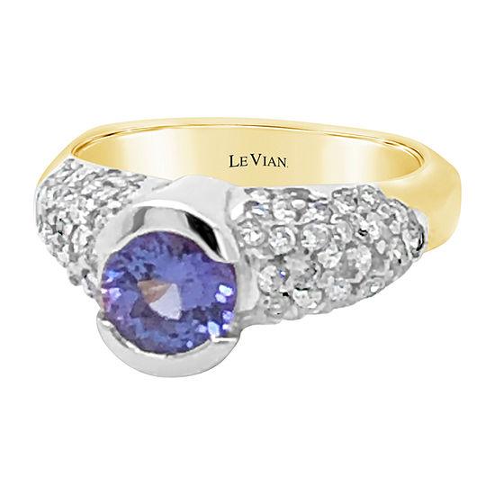 Le Vian Grand Sample Sale™ Ring featuring Blueberry Tanzanite® 7/8 CT. T.W. Vanilla Diamonds® set in 14K Two Tone Gold
