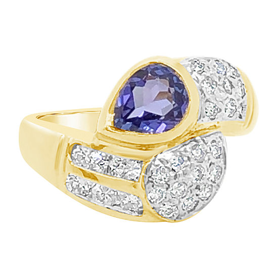 Le Vian Grand Sample Sale™ Ring featuring Blueberry Tanzanite® 5/8 CT. T.W. Vanilla Diamonds® set in 18K Honey Gold™