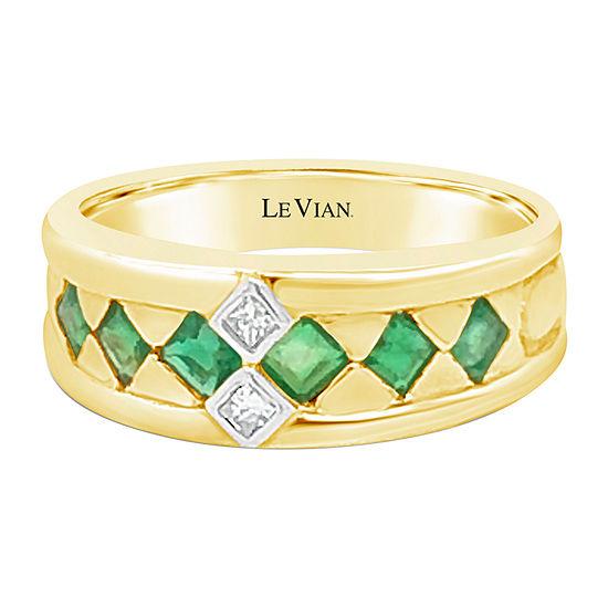 Le Vian Grand Sample Sale™ Ring featuring Costa Smeralda Emeralds™ Vanilla Diamonds® set in 18K Honey Gold™