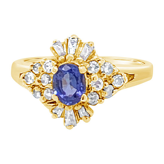 LIMITED QUANTITIES! Le Vian Grand Sample Sale™ Ring featuring Blueberry Tanzanite® 1/2 CT. T.W. Nude Diamonds™ set in 14K