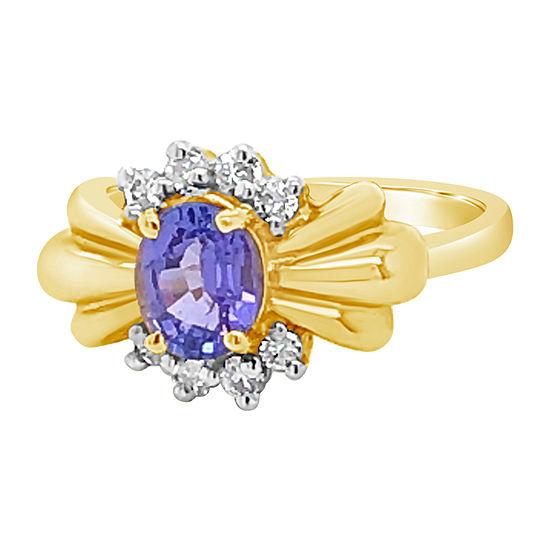 Le Vian Grand Sample Sale™ Ring featuring Blueberry Tanzanite® 1/5 CT. T.W. Vanilla Diamonds® set in 14K Gold