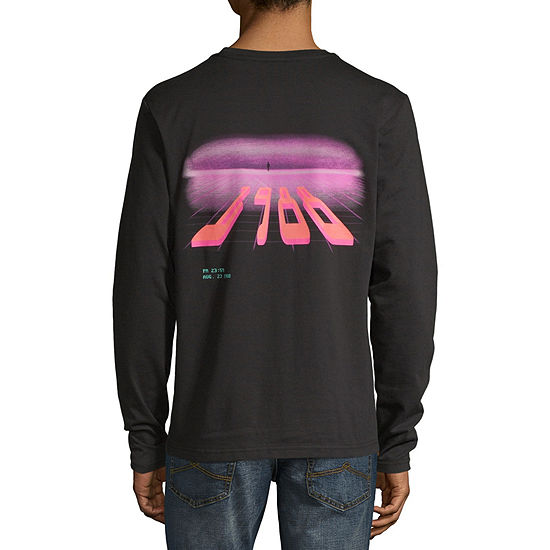 H4X Mens Crew Neck Long Sleeve Graphic T-Shirt