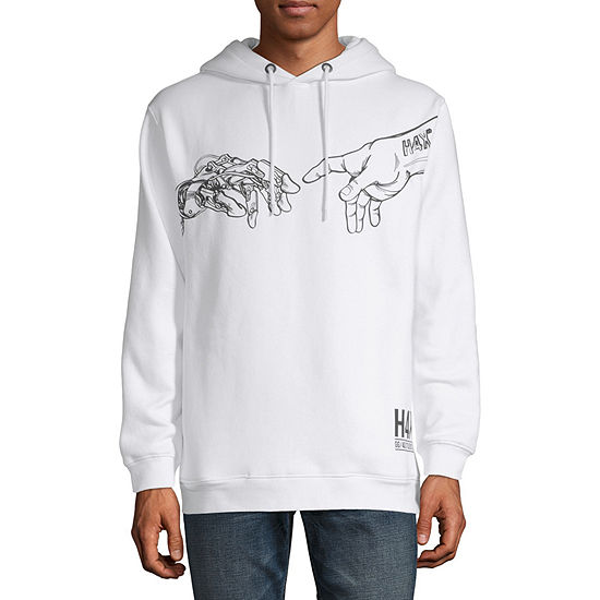 H4X Mens Hooded Neck Long Sleeve Graphic T-Shirt
