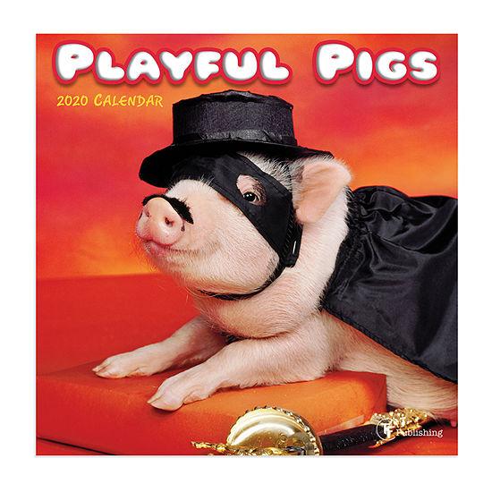 Tf Publishing 2020 Playful Pigs Mini Wall Calendar