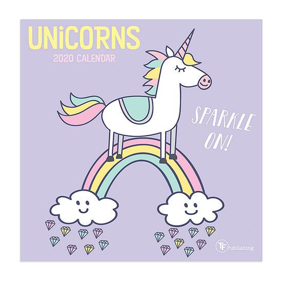 Tf Publishing 2020 Unicorns Mini Wall Calendar