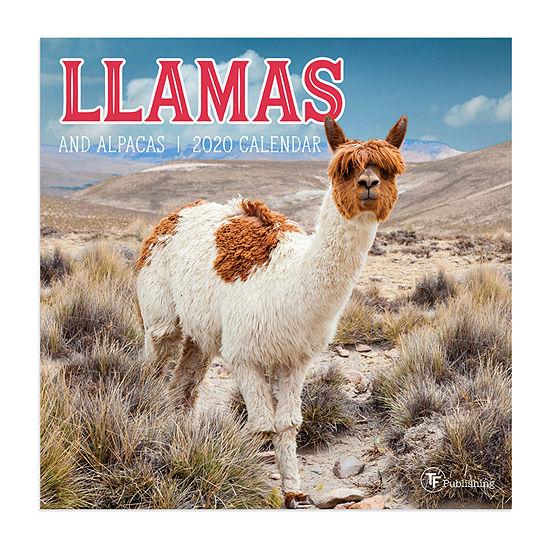 Tf Publishing 2020 Llamas Mini Wall Calendar