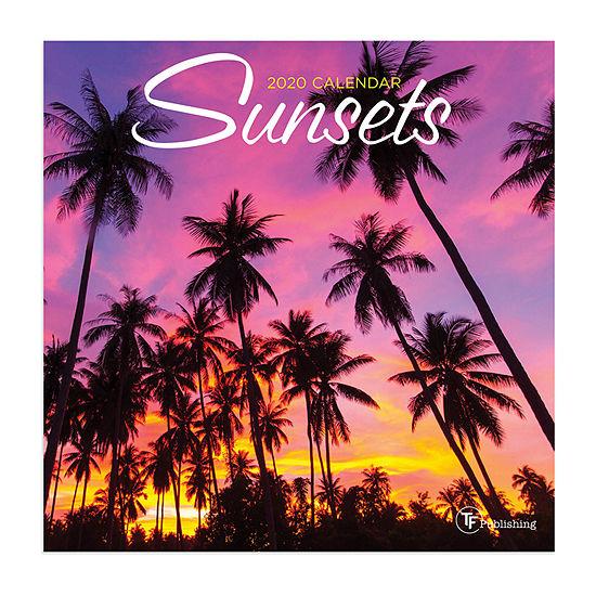 Tf Publishing 2020 Sunsets Mini Wall Calendar