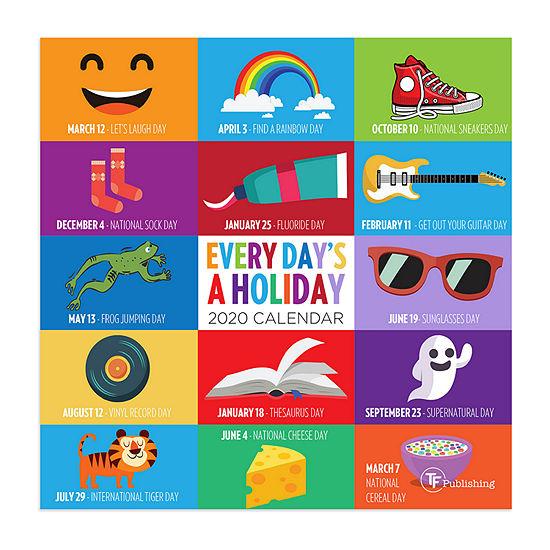 Tf Publishing 2020 Every Day's A Holiday Mini Wall Calendar