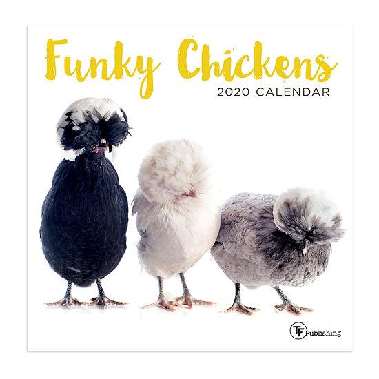 Tf Publishing 2020 Funky Chickens Mini Wall Calendar