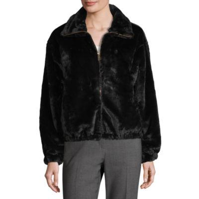Worthington Faux Fur Lightweight Bomber Jacket