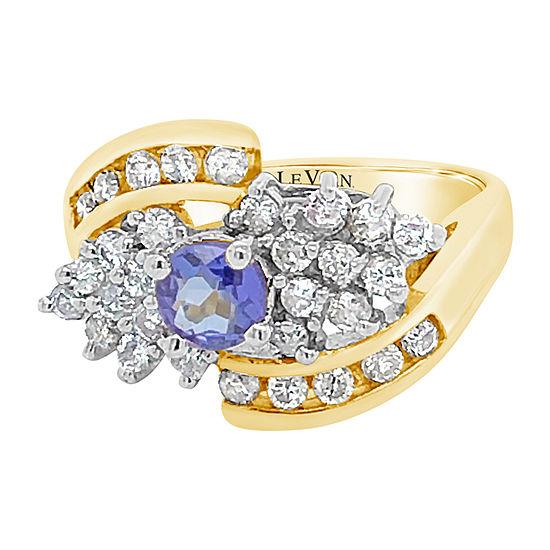 Le Vian Grand Sample Sale™ Ring featuring Blueberry Tanzanite® 3/4 CT. T.W. Vanilla Diamonds® set in 14K Vanilla Gold®