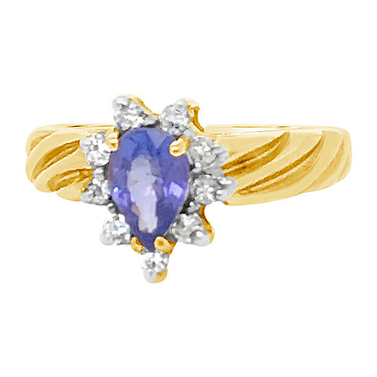 Le Vian Grand Sample Sale™ Ring featuring Blueberry Tanzanite® 1/5 CT. T.W. Nude Diamonds™ set in 14K Honey Gold™