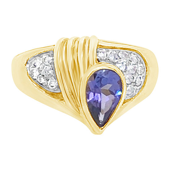 Le Vian Grand Sample Sale™ Ring featuring Blueberry Tanzanite® 1/3 CT. T.W. Vanilla Diamonds® set in 14K