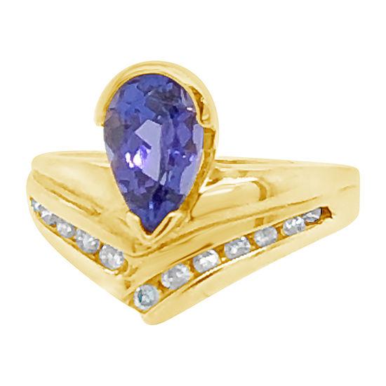 Le Vian Grand Sample Sale™ Ring featuring Blueberry Tanzanite® 1/4 CT. T.W. Vanilla Diamonds® set in 14K Honey Gold™