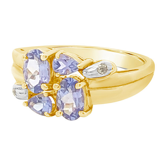 Le Vian Grand Sample Sale™ Ring featuring Blueberry Tanzanite® CT. T.W. Vanilla Diamonds® set in 14K Honey Gold™