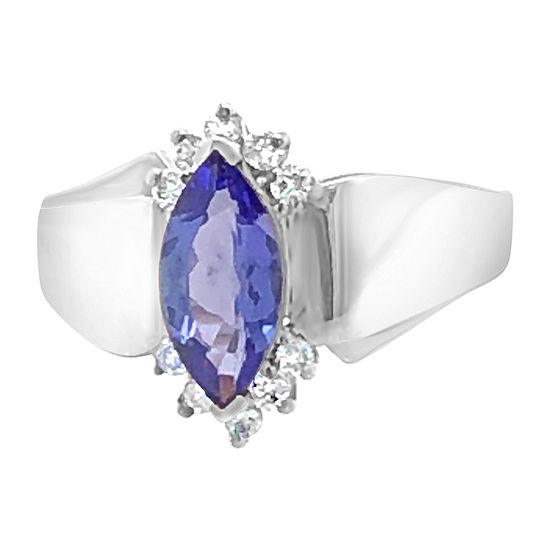 LIMITED QUANTITIES! Le Vian Grand Sample Sale™ Ring featuring Blueberry Tanzanite® 1/6 CT. T.W. Vanilla Diamonds® set in 18K Vanilla Gold®