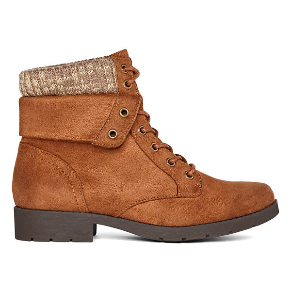 Arizona Womens Yetta Block Heel Lace Up Boots