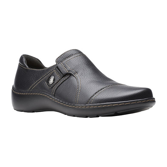 Clarks Womens Cora Poppy Slip-On Shoe