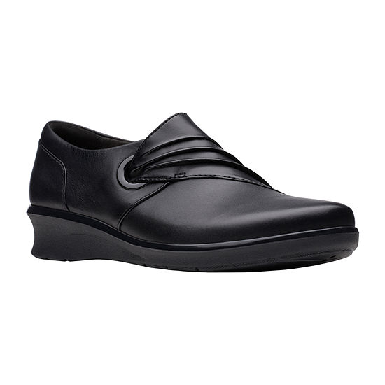 Clarks Womens Hope Shine Slip-On Shoe