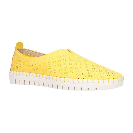 Easy Street Womens Marlo Slip-On Shoe, 11 Medium, Yellow