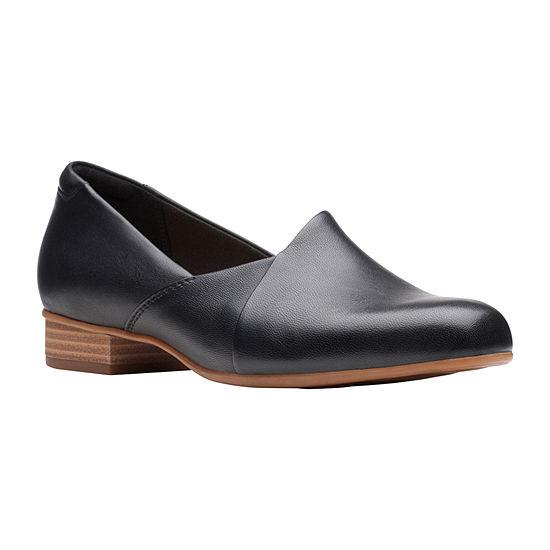 Clarks Womens Juliet Closed Toe Slip-On Shoe Palm