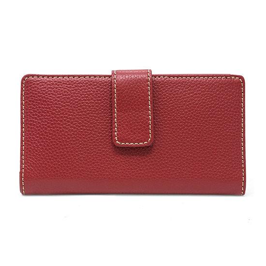 Mundi Sandie Genuine Leather Slim Clutch Slim Fold Wallet