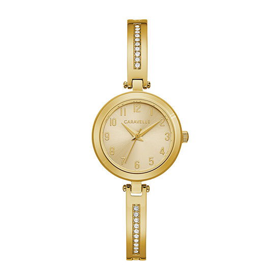 Caravelle Designed By Bulova Womens Gold Tone Stainless Steel 2-pc. Watch Boxed Set-44x100